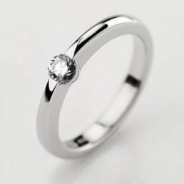 Inel de logodna din aur, diamant 0,05ct