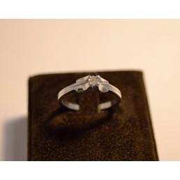 Inel din argint, diamant natural