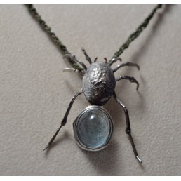 Pandantiv din argint cu acvamarin