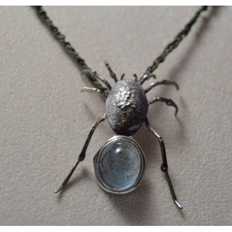 Pandantiv din argint cu avamarin