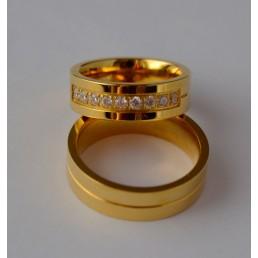 Verighete din aur galben, diamante