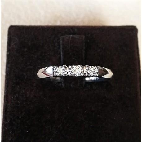 inel din aur alb, diamante