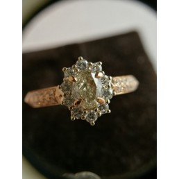 Inel din aur roz , diamante