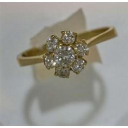 Inel din aur cu diamante