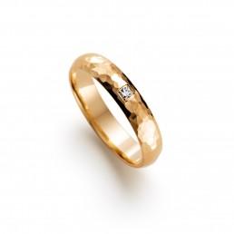 Verigheta cu diamant, aur galben 18k