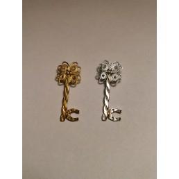 Pandant cheie din argint,filigran, diamant