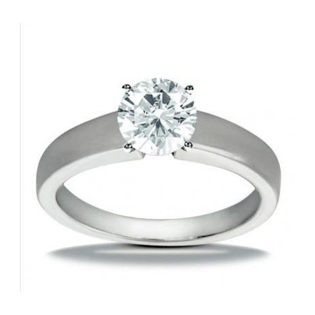 Inel logodna din aur alb cu diamant taietura briliant