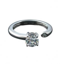 Inel de logodna din aur 14k, diamante 0.11ct.