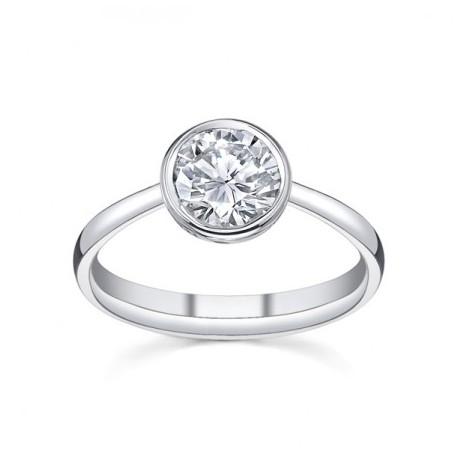 Inel de logodna din aur alb cu diamant il38